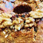 Walnut and sultana cake recipe (Karidopita)