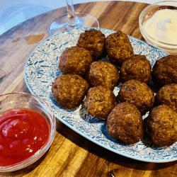 Greek meatballs with beef mince recipe ( Keftedakia recipe )